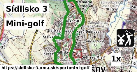 mini-golf v Sídlisko 3