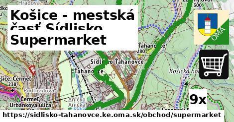 ilustračný obrázok k Supermarket, Košice - mestská časť Sídlisko Ťahanovce