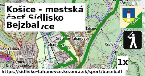 bejzbal v Košice - mestská časť Sídlisko Ťahanovce