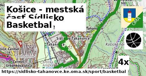 ilustračný obrázok k Basketbal, Košice - mestská časť Sídlisko Ťahanovce