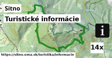 turistické informácie v Sitno
