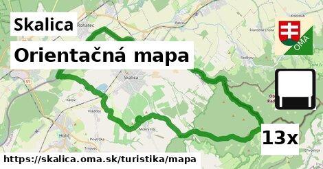 orientačná mapa v Skalica
