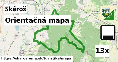 orientačná mapa v Skároš