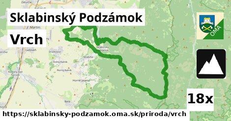 vrch v Sklabinský Podzámok