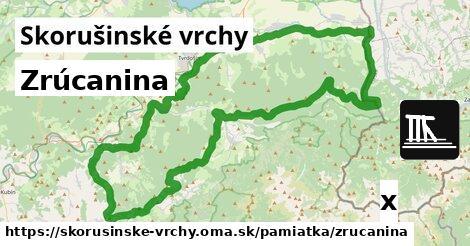 ilustračný obrázok k Zrúcanina, Skorušinské vrchy