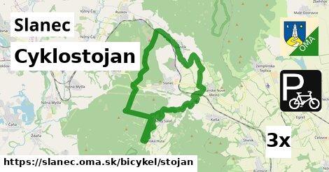 cyklostojan v Slanec