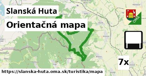 orientačná mapa v Slanská Huta
