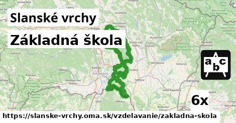 ilustračný obrázok k Základná škola, Slanské vrchy