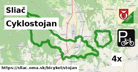 Cyklostojan, Sliač