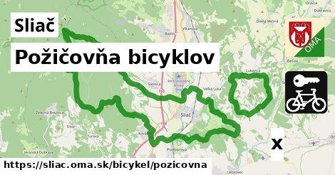požičovňa bicyklov v Sliač
