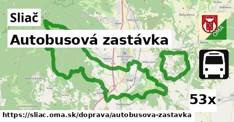 autobusová zastávka v Sliač