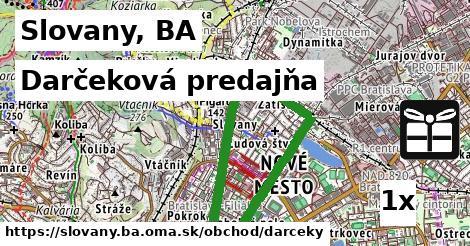 darčeková predajňa v Slovany, BA