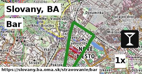bar v Slovany, BA