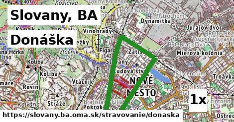 donáška v Slovany, BA