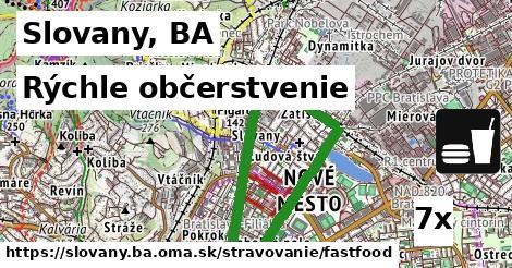 rýchle občerstvenie v Slovany, BA