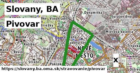 pivovar v Slovany, BA
