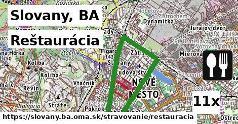 reštaurácia v Slovany, BA
