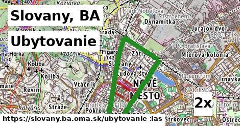 ubytovanie v Slovany, BA