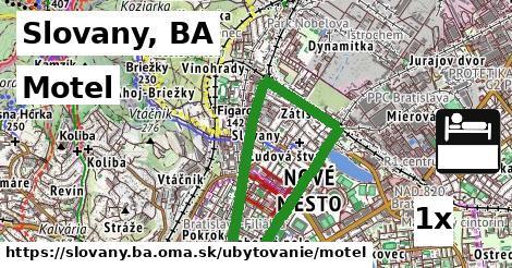 motel v Slovany, BA