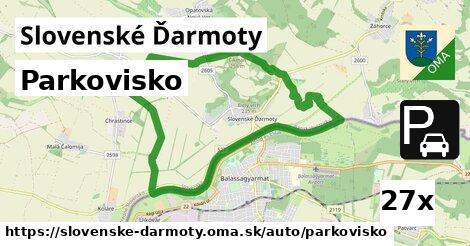 parkovisko v Slovenské Ďarmoty