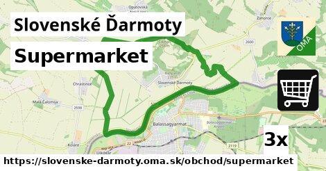 supermarket v Slovenské Ďarmoty