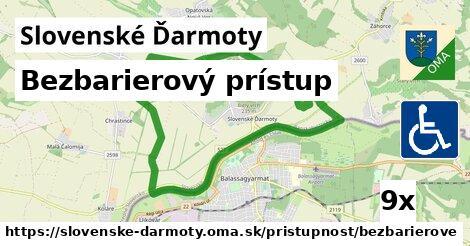 bezbarierový prístup v Slovenské Ďarmoty