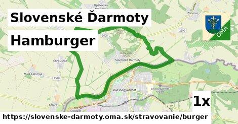 hamburger v Slovenské Ďarmoty