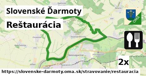 reštaurácia v Slovenské Ďarmoty
