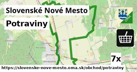 potraviny v Slovenské Nové Mesto
