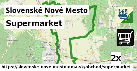 supermarket v Slovenské Nové Mesto