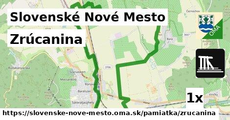 zrúcanina v Slovenské Nové Mesto