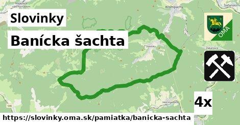 banícka šachta v Slovinky