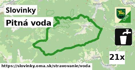 pitná voda v Slovinky