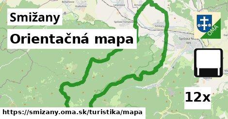 orientačná mapa v Smižany