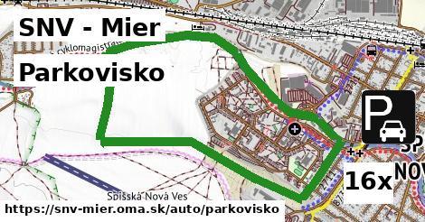 parkovisko v SNV - Mier