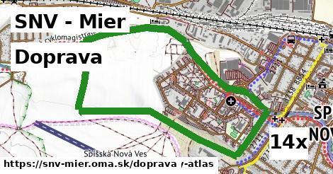 doprava v SNV - Mier