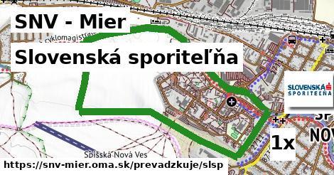 Slovenská sporiteľňa v SNV - Mier