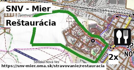 reštaurácia v SNV - Mier