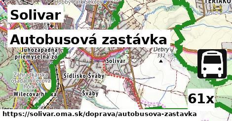 autobusová zastávka v Solivar