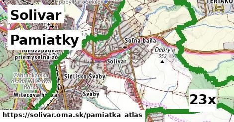 pamiatky v Solivar
