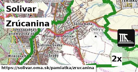 zrúcanina v Solivar