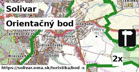 orientačný bod v Solivar