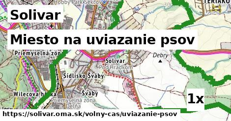 miesto na uviazanie psov v Solivar