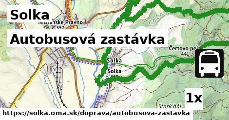 autobusová zastávka v Solka