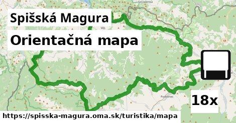 ilustračný obrázok k Orientačná mapa, Spišská Magura