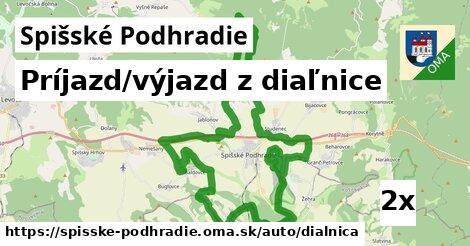 ilustračný obrázok k Príjazd/výjazd z diaľnice, Spišské Podhradie