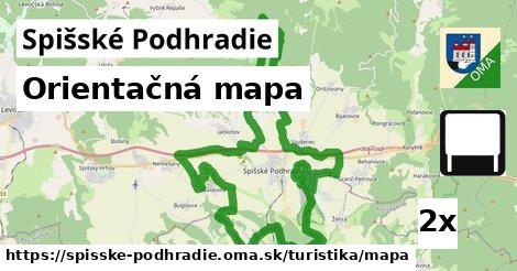 ilustračný obrázok k Orientačná mapa, Spišské Podhradie
