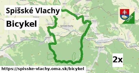 bicykel v Spišské Vlachy