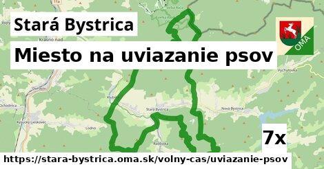 miesto na uviazanie psov v Stará Bystrica