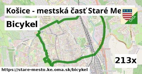 bicykel v Košice - mestská časť Staré Mesto